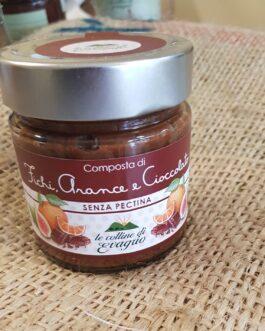 Marmellata Le Colline di Evagrio Fichi,Arance,Cioccolato 230g