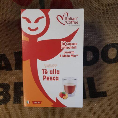 a modo mio italian coffee te alla pesca