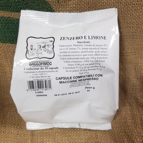 nespresso gattopardo zenzero e limone