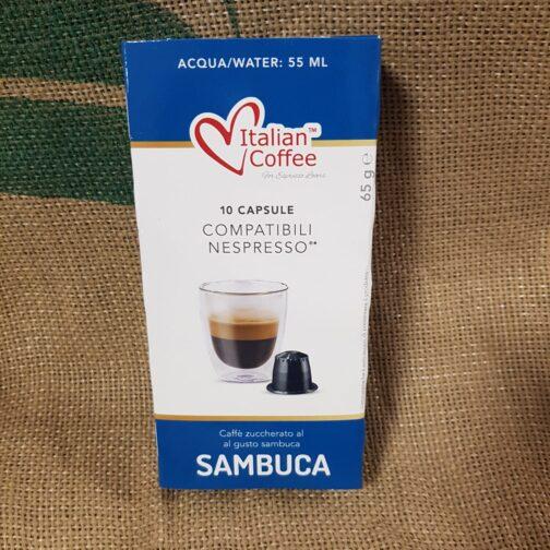 nespresso italian coffee sambuca