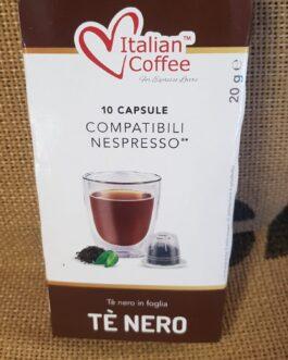 Capsula Nespresso Italian Coffee Tè Nero 10 Pz