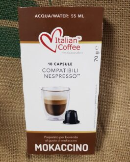 Capsula Nespresso Italian Coffee Mokaccino 10 Pz