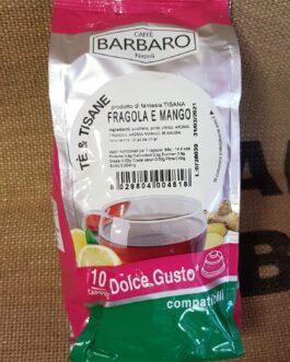 Capsula Dolce Gusto Caffè Barbaro Fragola e Mango 10 Pz