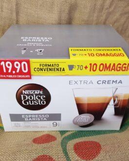 Capsula Nescafè Dolce Gusto Espresso Barista 80 Pz