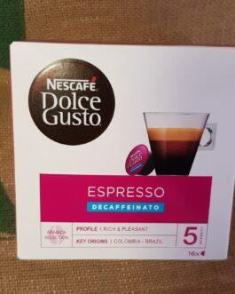 Capsula Nescafè Dolce Gusto Espresso Decaffeinato 16 Pz