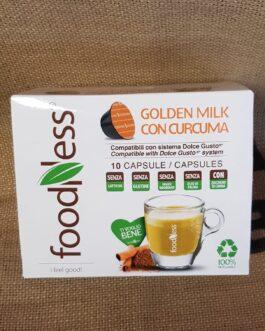 Capsula Dolce Gusto Foodness Golden Milik con Curcuma 10 Pz