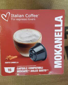 Capsula Dolce Gusto Italian Coffee Mokanella 16 Pz
