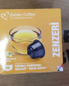 Capsula Dolce Gusto Italian Coffee Zenzerì 16 Pz