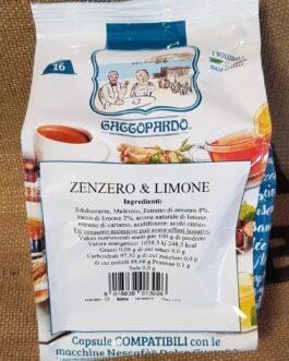 Capsula Dolce Gusto Toda/Gattopardo Zenzero e Limone 16 Pz