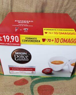 Capsula Nescafè Dolce Gusto Espresso Roma 80 Pz