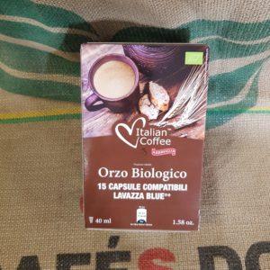lavazza blu italian coffee orzo biologico