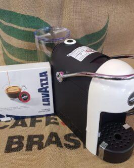 Macchina da Caffè Jolie Bianca per Lavazza A Modo Mio + 9 Capsule Omaggio