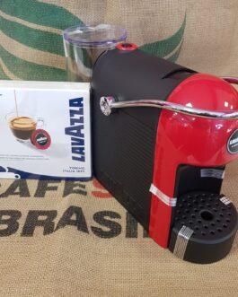 Macchina da Caffè Jolie Rossa per Lavazza A Modo Mio + 9 Capsule Omaggio