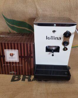 Macchina Caffè Lollina Bianca + 40 Cialde in Omaggio