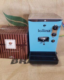 Macchina Caffè Lollina Blu + 40 Cialde in Omaggio