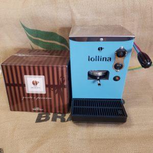 macchina da caffe lollina blu