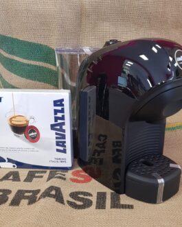 Macchina da Caffè Tiny Nera per Lavazza A Modo Mio + 9 Capsule Omaggio