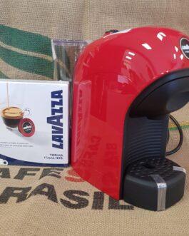 Macchina da Caffè Tiny Rossa per Lavazza A Modo Mio + 9 Capsule Omaggio