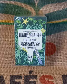 Tè e Tisane Heat & Heather Tè Verde, Macha e Alga Marina 20 Pz