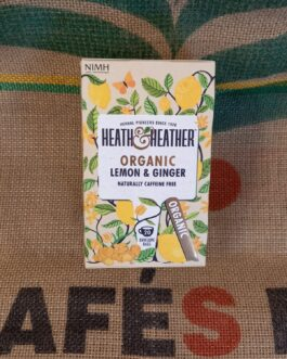 Tè e Tisane Heat & Heather Tisana Zenzero e Limone 20 Pz
